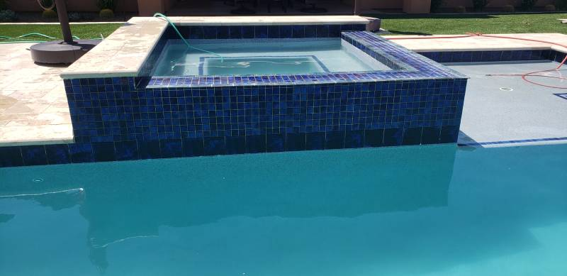 Professional pool tile cleaning service in Arizona
